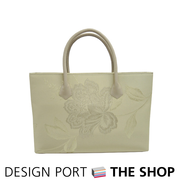 【バッグ】 レディース 和装バッグ Mバッグ A4 咲 アイボリー 白茶 【送料無料】 川島織物セルコン 1KM457641