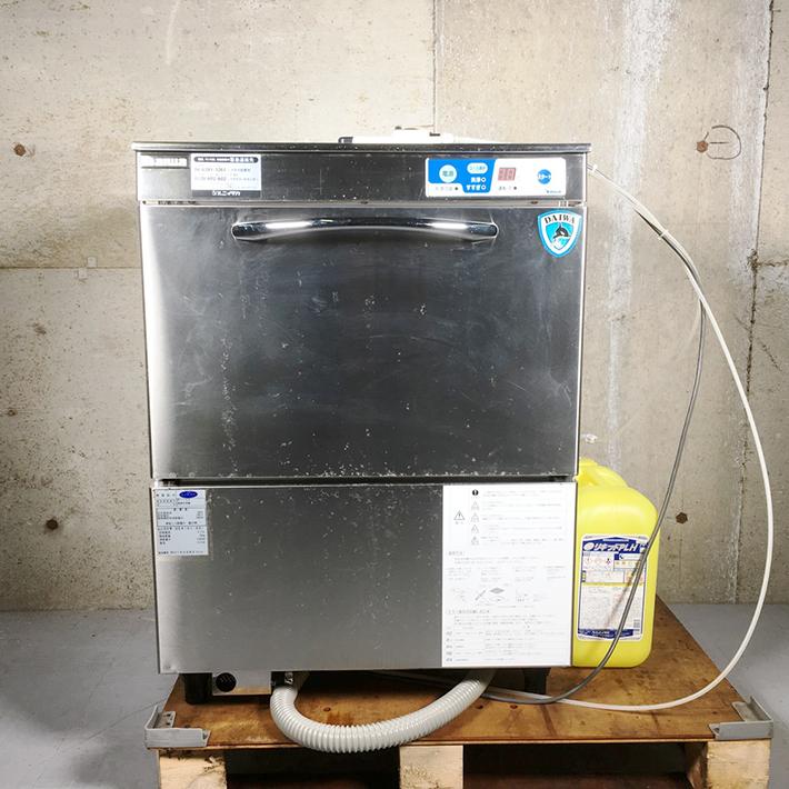 【中古】【厨房機器】【2013年製】★大和冷機 ドアタイプ食器洗浄機 エコ洗くん DDW-UE4(01-60)★・店舗用品・アンダーカウンタータイプ・幅600x奥600x高800mm・単相100V・60Hz専用