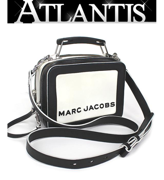 お洒落 マークバイマークジェイコブス MARC BY JACOBS 価格 THE BOX20 ショルダー レザー 黒×白 ハンド 2WAY バッグ ミニ