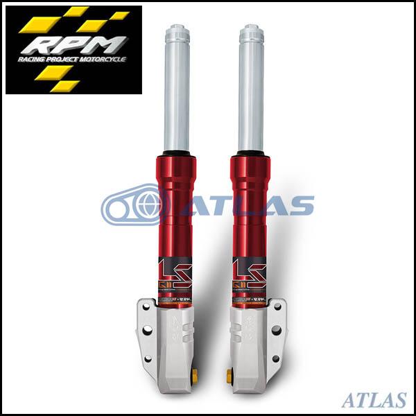 RPM GII LS 2nd,3rd,4th CYGNUS X(シグナスX) リバウンドアジャスタブルフロントフォーク 純正キャリパーサポートセット