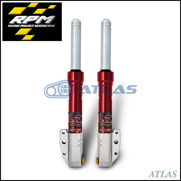RPM GII LS CYGNUS X(シグナスX),BW`S R リバウンドアジャスタブルフロントフォーク 40mmピッチキャリパーサポートセット