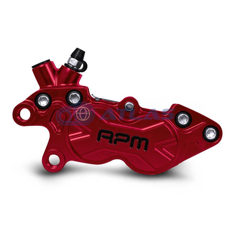 RPM BK-4L-006 CNC Axial P4 40mmピッチキャリパー 左用 レッド