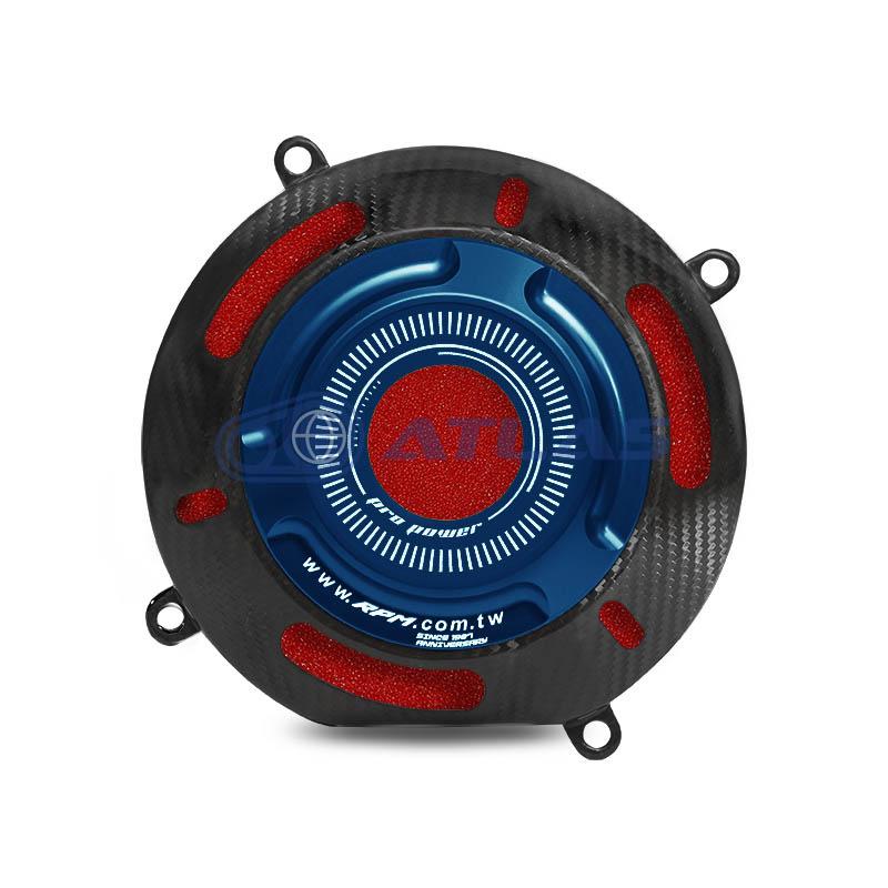 RPM MAJESTY S(マジェスティS)プーリーエアダクトカバー カーボン/ブルー