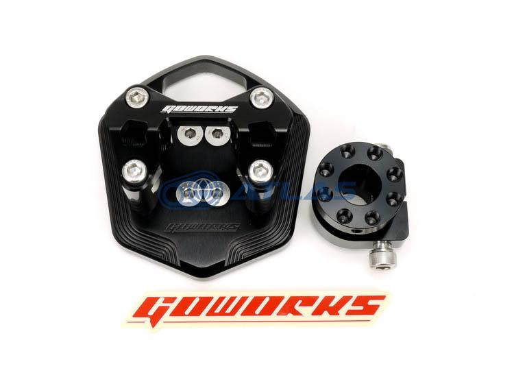 Go Works MAJESTY S(マジェスティS),SMAX ハンドルブラケットセット(ハンドルポスト)φ22.2mmハンドル用 ブラック