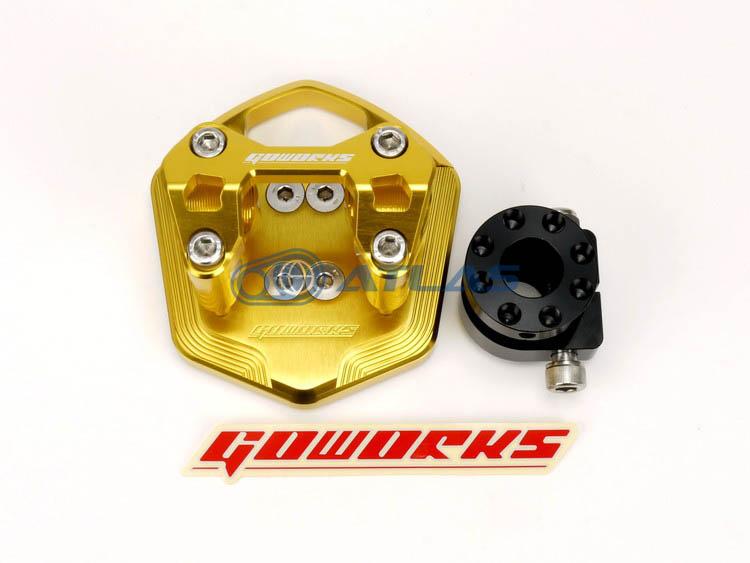 Go Works MAJESTY S(マジェスティS),SMAX ハンドルブラケットセット(ハンドルポスト)φ28.6mmテーパーハンドル用 ゴールド