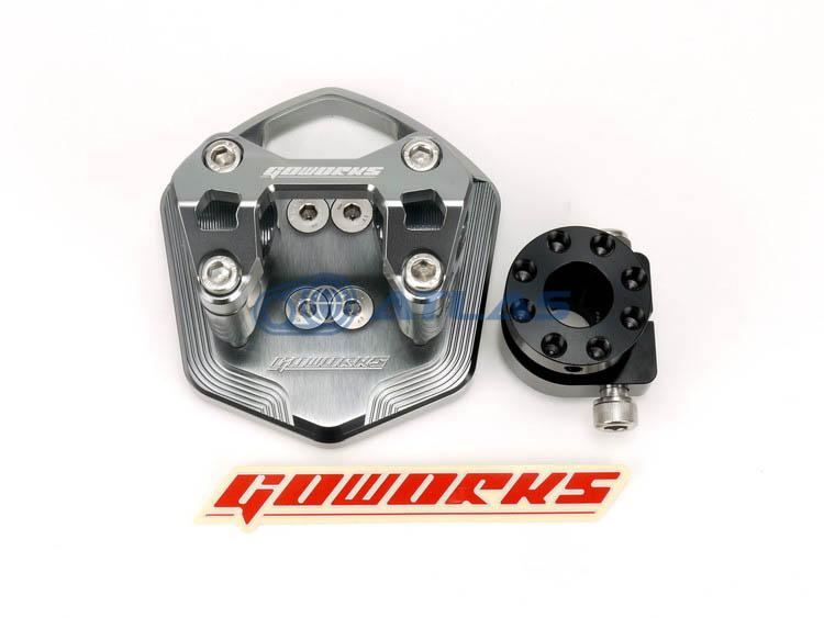 Go Works MAJESTY S(マジェスティS),SMAX ハンドルブラケットセット(ハンドルポスト)φ22.2mmハンドル用 グレー