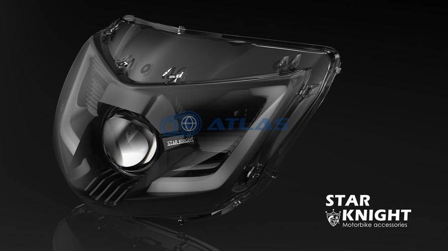 LEDプロジェクターヘッドライト ラインLED付 N1 5型シグナスX STAR KNIGHT