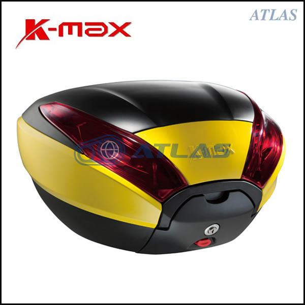 K-MAX K20 汎用リアボックス 40リットル イエロー/ブラック プッシュオープンゲート