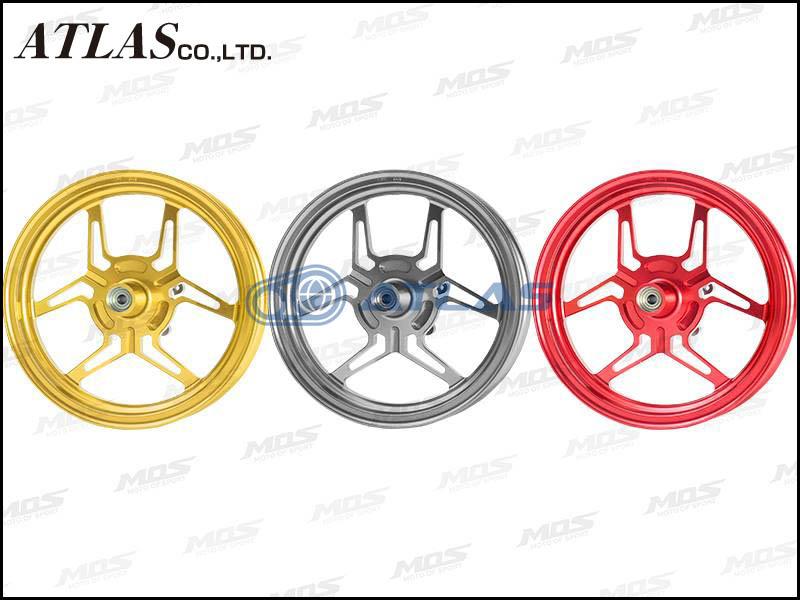 【MOS】【シグナスX】【4TH CYGNUS X】【BW'S125 SEA6J】XR-3 鍛造 アルミ ホイール 前後セット ゴールド