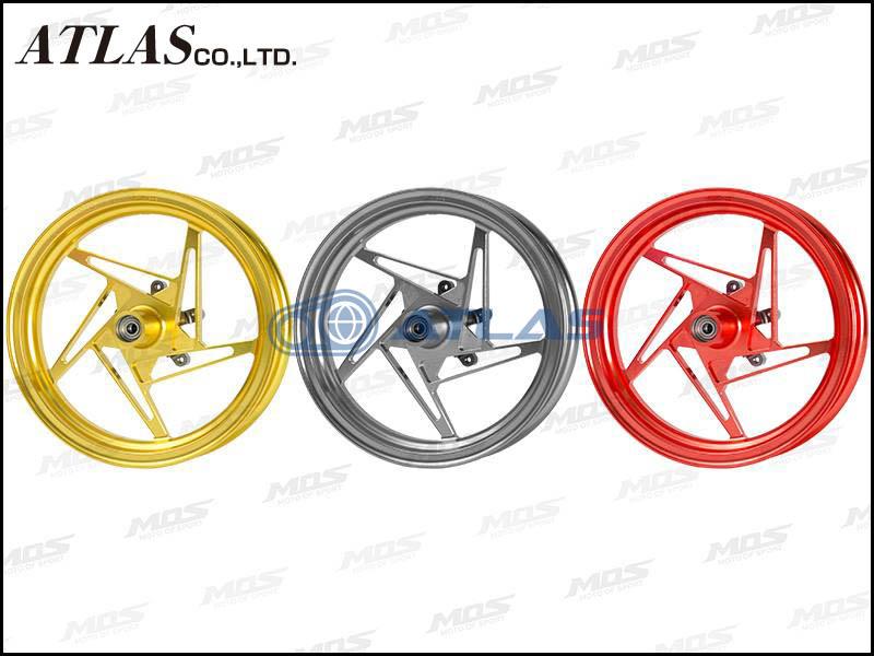 【MOS】【シグナスX】【4TH CYGNUS X】【BW'S125 SEA6J】XR-5 鍛造 アルミ ホイール 前後セット ガンメタ