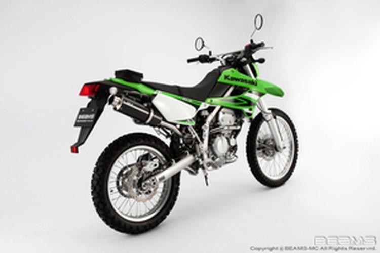【BEAMS】【マフラー】B408-08-003 KLX250 LX250S SS300カーボン アップタイプ フルエキ ビームス