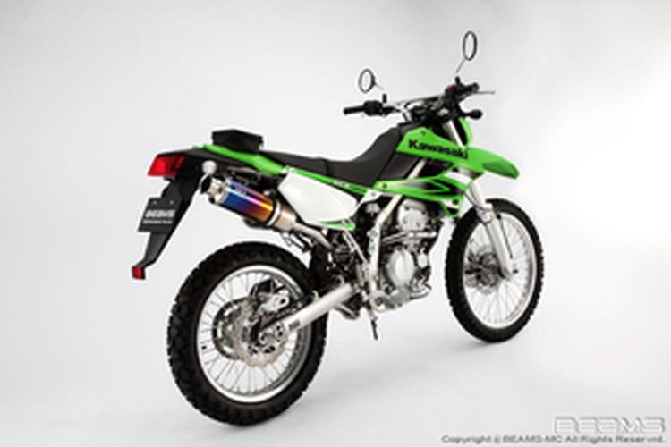 【BEAMS】【マフラー】B408-09-003 KLX250 LX250S SS300チタン アップタイプ フルエキ ビームス