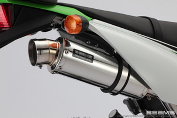 【BEAMS】【マフラー】B413-53-008 KLX125 LX125C R-EVO ステンレスサイレンサー ビームス