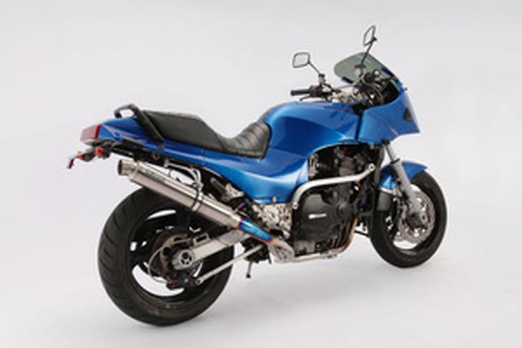 【BEAMS】【マフラー】D402-53-TAS GPZ900R R-EVOフルエキ (φ89ロング・チタンソリッドサイレンサー) ビームス
