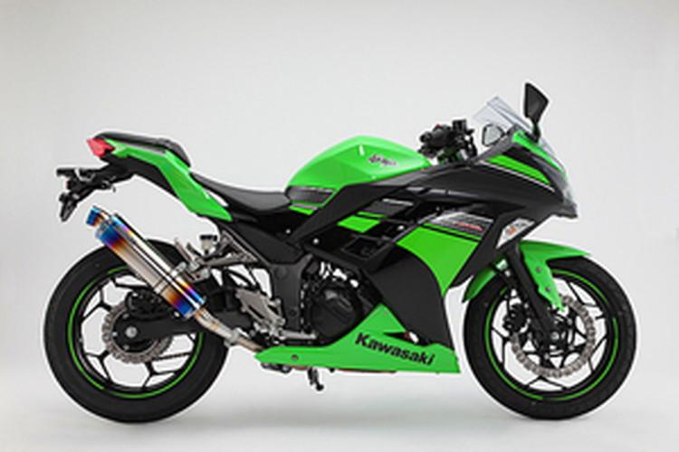 【BEAMS】【マフラー】D415-53-P1S Ninja250 ニンジャ '13~ R-EVO スリップオン (ヒートチタン) ビームス