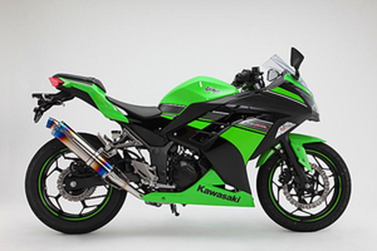 【BEAMS】【マフラー】D415-53-S1S Ninja250 ニンジャ '13~ R-EVO フルエキ (ヒートチタンサイレンサー) ビームス