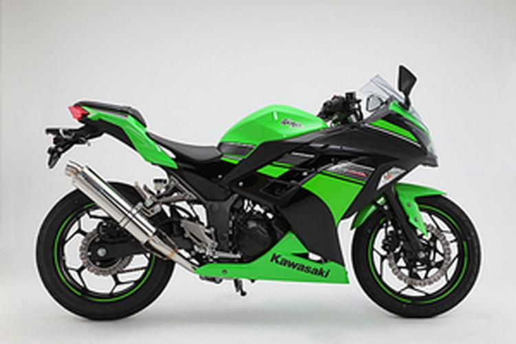 【BEAMS】【マフラー】D415-53-S6S Ninja250 ニンジャ '13~ R-EVO フルエキ (ステンレスサイレンサー) ビームス