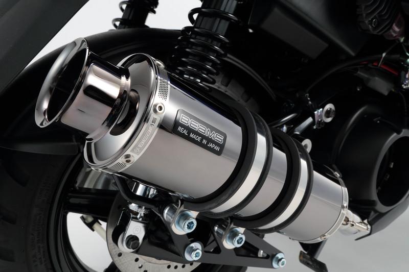 【BEAMS】【BW'S125】【マフラー】G243-05-000 2016~/国内モデル ビーウィズ EBJ-SEA6J SS300 スーパーメタルブラック ビームス