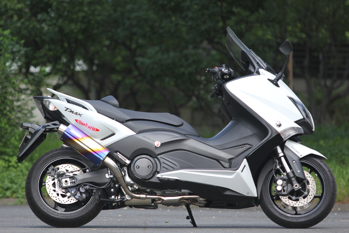 SP TADAO SP忠男マフラー T-MAX530(SJ091) 国内輸出共通 PURE SPORT TwoTail チタンブルー TM5-PS-15