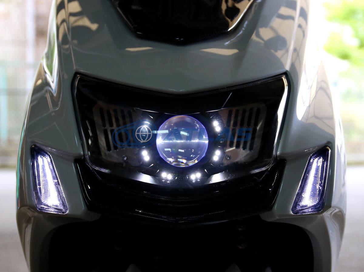 GAMMAS 5型シグナスX(CYGNUS X) 魚眼ヘッドライト LED 35W 5000K 3200lm 天使眼OP付