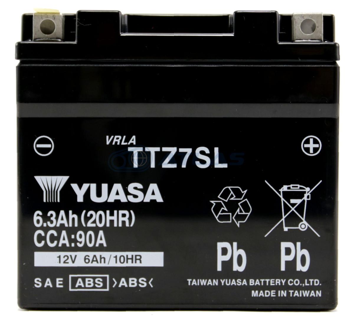 信頼と実績の台湾YUASA製バッテリー 台湾ユアサ TAIWAN YUASA 期間限定特別価格 TTZ7SL 1年保証 お買い得 FTZ7S 互換YTZ7S 初期充電済み