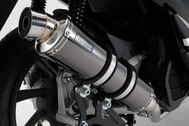BEAMS マフラー G180-53-005 PCX150 2BK-KF30 R-EVO スーパーメタルブラック フルエキ ビームス