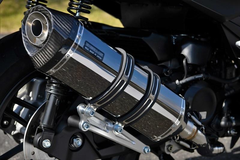 BEAMS マフラー G182-66-005 フォルツァ 2BK-MF13 FORZA GT-CORSA スーパーメタルブラック フルエキ ビームス