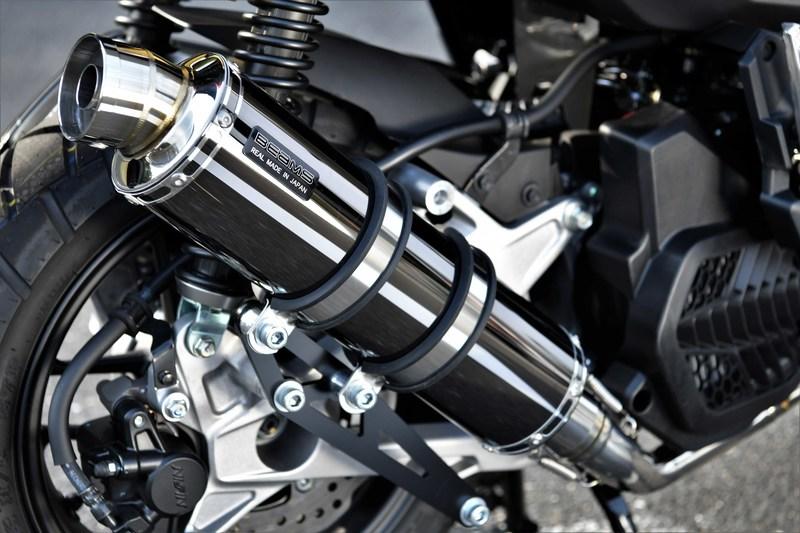 BEAMS G194-53-005 ADV150 2BK-KF38 R-EVO SMB スーパーメタルブラック フルエキ ビームス マフラー