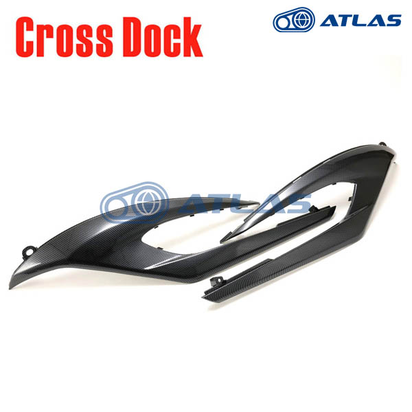 CROSS DOCK 3rd CYGNUS X 1MS(シグナスX 2013年式~ 1YP)用 ブラックカーボン フットレストカバー