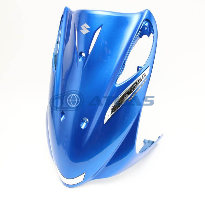 台湾SUZUKI純正 アドレスV125G(ADDRESS V125G)CF46A CF4EA フロントレッグシールドアッセンブリー エンブレム付属 ブルー 48110T33G61-YRG