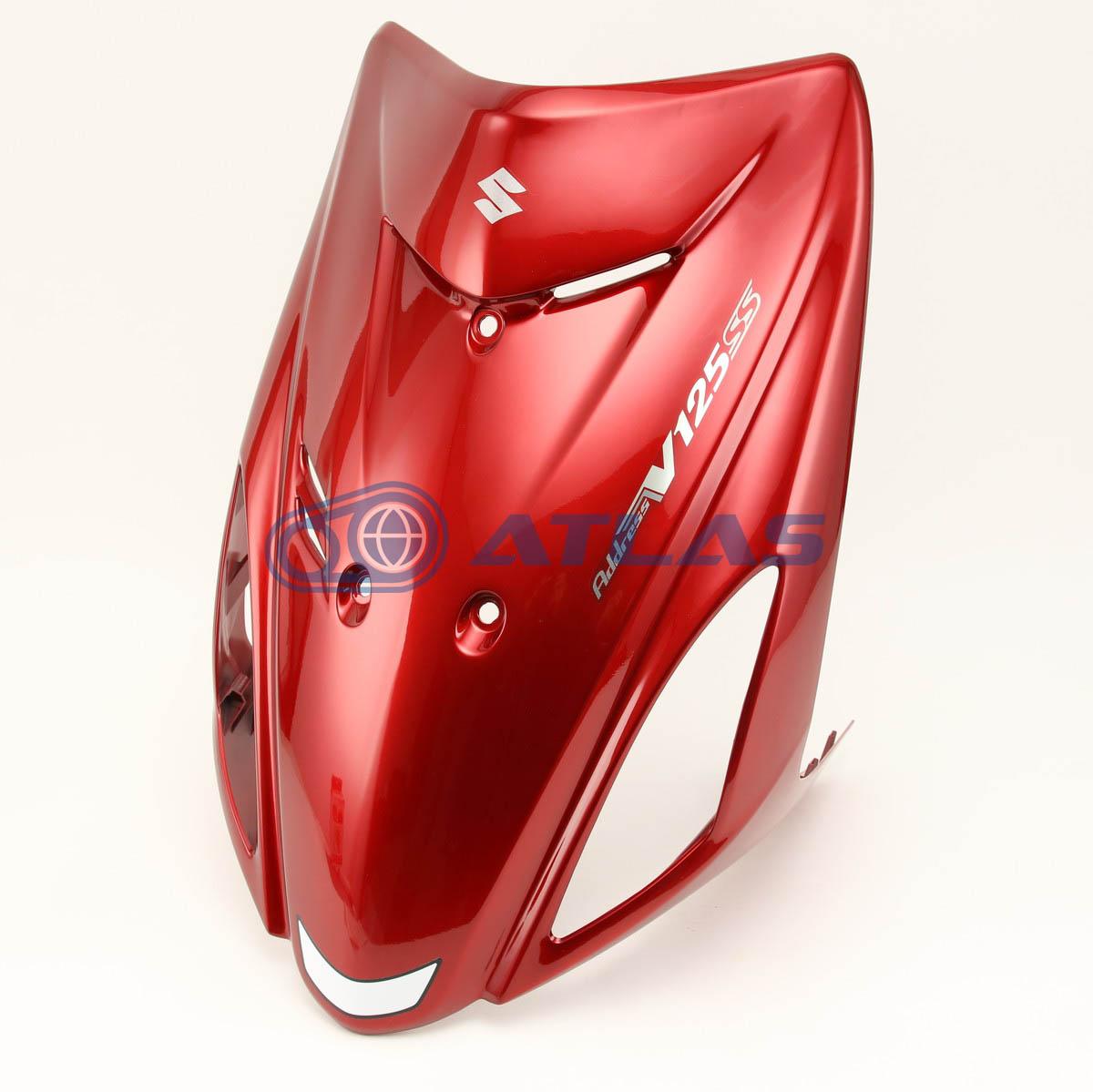 台湾SUZUKI純正 アドレスV125S V125SS(ADDRESS V125S V125SS)CF4MA フロントレッグシールド レッド 48110-04JF0-YNF