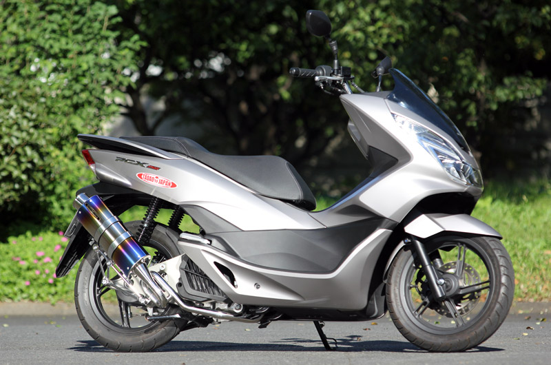 SPTADAO SP忠男 マフラー 14~ PCX150 JBK-KF18 PURESPORT SilentVersion GoldEmblem TitanBlue フルエキ PC1-GE-22