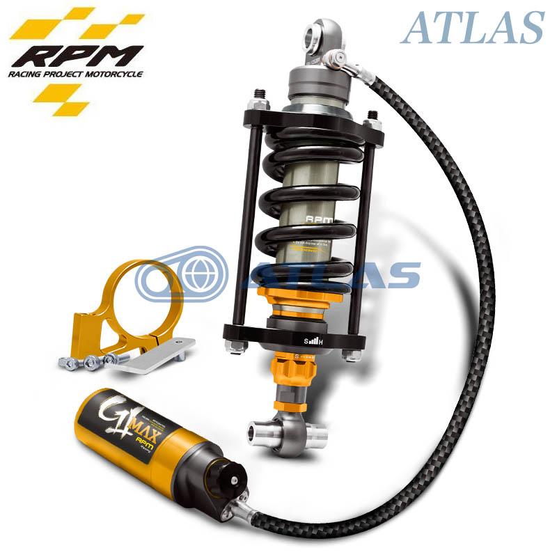 RPM GII TMAX リモートコンプレッションリザーバー ストレッチリアサスペンション320mm ブラック/ゴールド