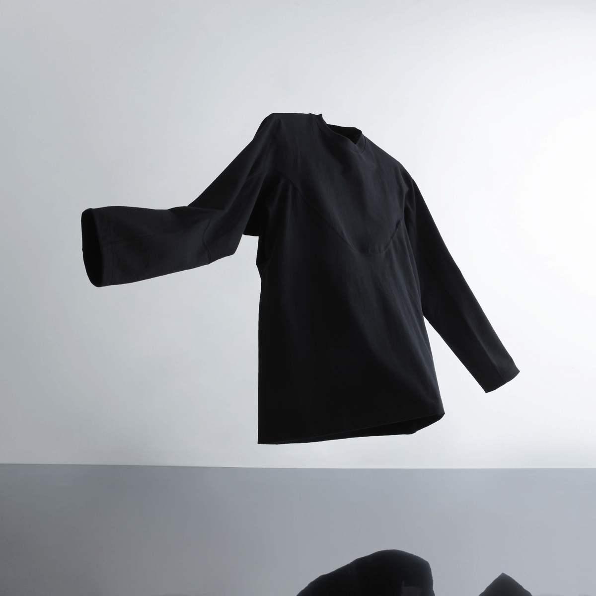 A-GIRLS ATMOS Pinnacle Long Sleeve Line Tee(エイガールズ アトモス ピナクル ロングスリーブ ティーシャツ)(BLACK)19SS-S
