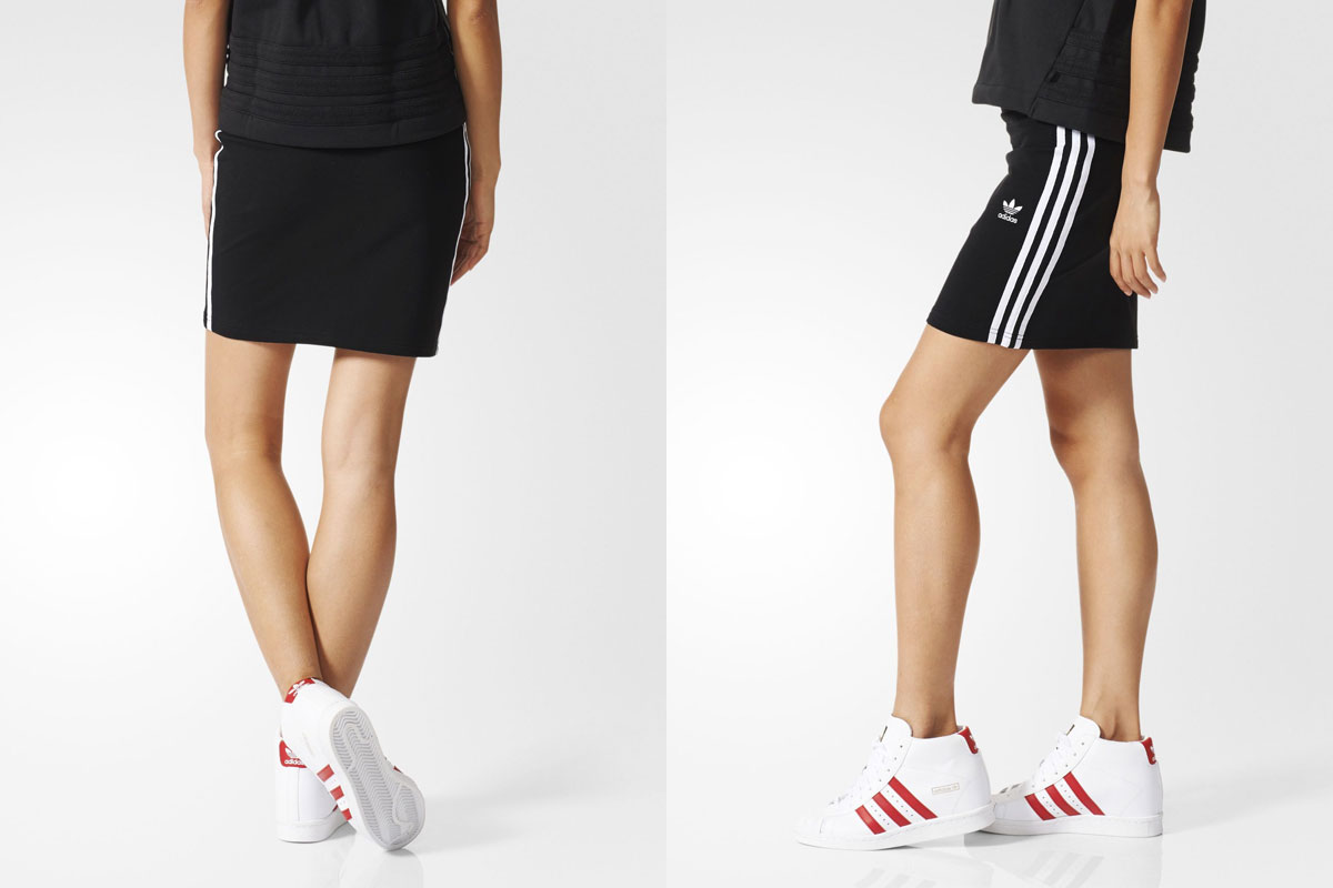 adidas Originals 3STRIPES SKIRT (adidas originals three stripes skirt) Black 16SS-I