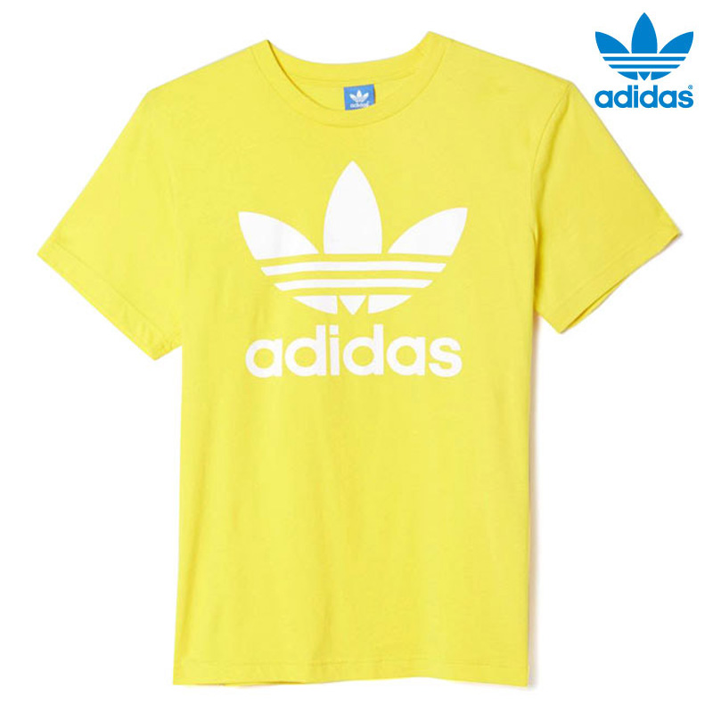 adidas Originals ORIG TREFOIL TEE (adidas originals-original trefoil t-shirt)  EQT YELLOW 16FW-I