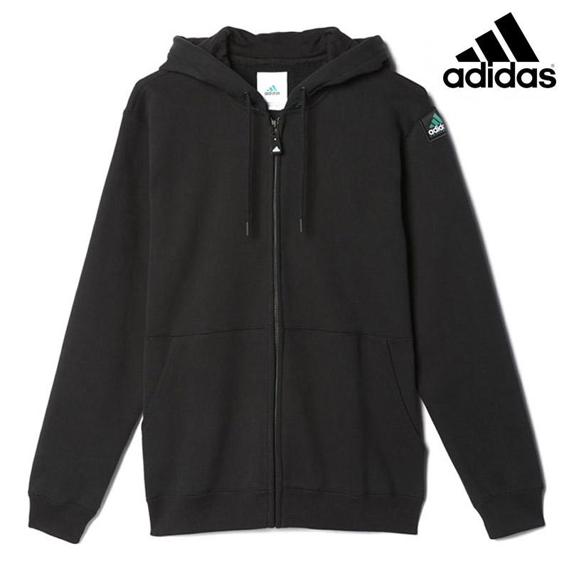 adidas EQUIPMENT FULLZIP HOODIE (アディダス フルジップ フーディー)(Black) 【メンズ】16FW-I