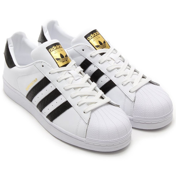 adidas superstar gold black white