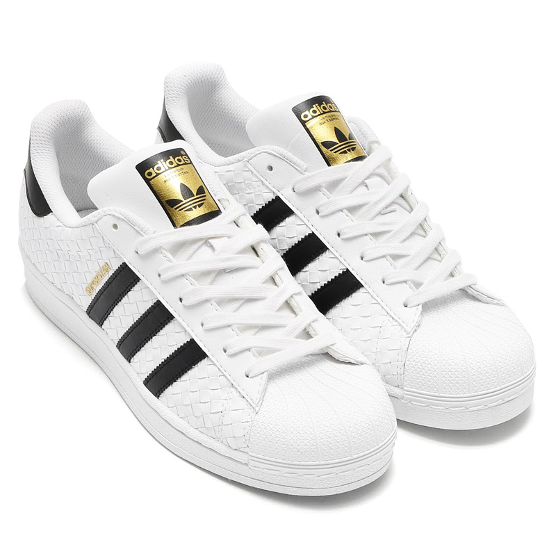 adidas Originals SUPERSTAR Adidas originals superstar) (Running White/Core  Black/Gold Foil) (17SS-I