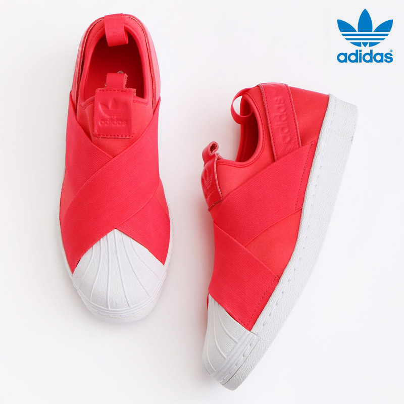adidas Originals SUPERSTAR SlipOn W (Core Pink Core Pink Running White) (Adidas  originals superstar slip-ons) 17SS-I 022cc6f93