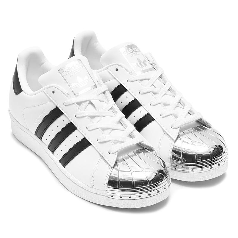 adidas Originals SUPERSTAR METAL TOE W (아디다스오리지나르스스파스타메타르트) (Running White/Core Black/Silver Mett)