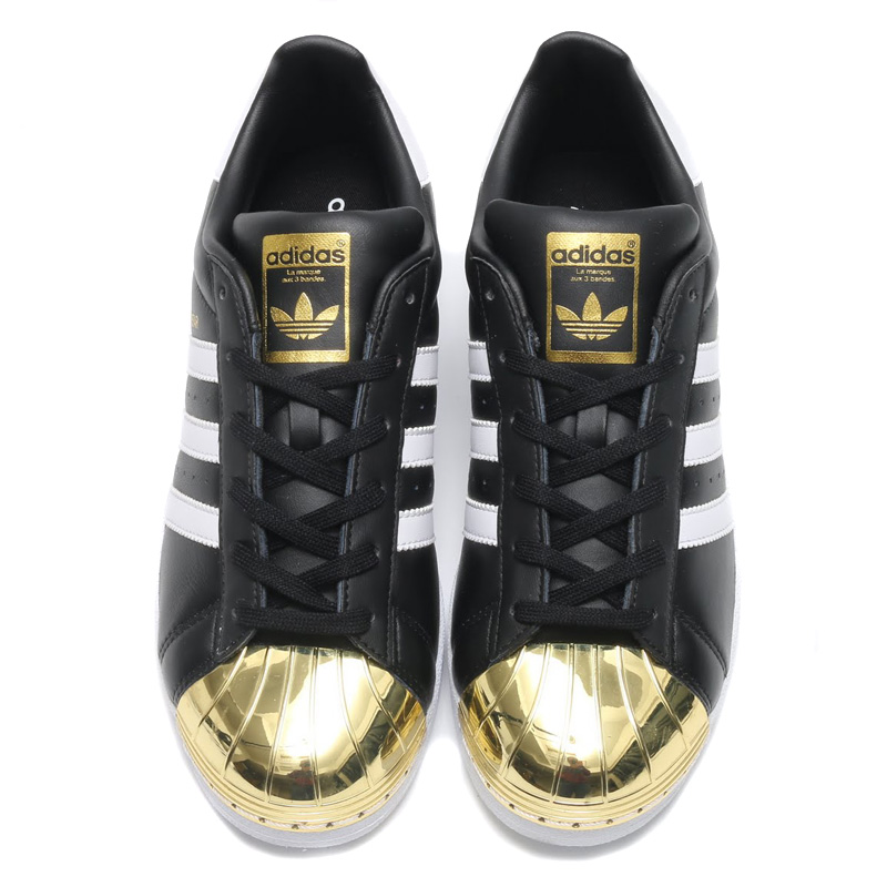 Details about Adidas Black Superstar Metal Rose Gold Toe Tennis Shoes