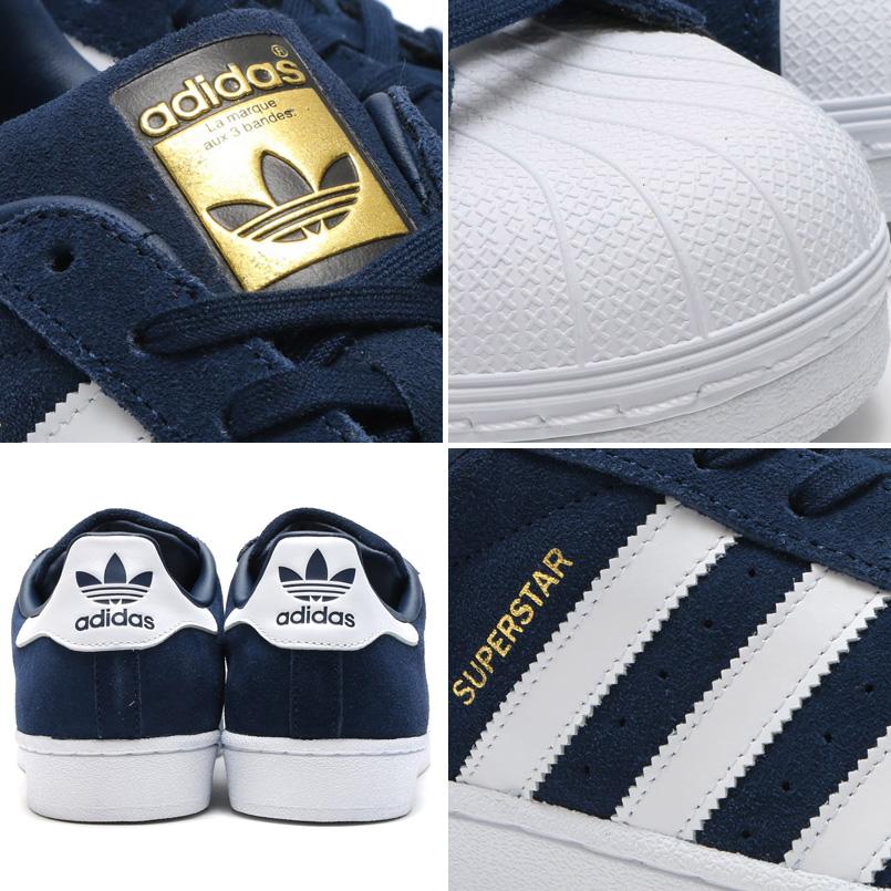 19 일 오후 8 시 시작! 낙천 대 감사 기간 점 모두 최대 포인트 10 배! Adidas Originals SUPERSTAR SUEDE (아디다스 オリジナルス 슈퍼스타 스웨이드) College Navy/Running White/College Navy 16SS-I