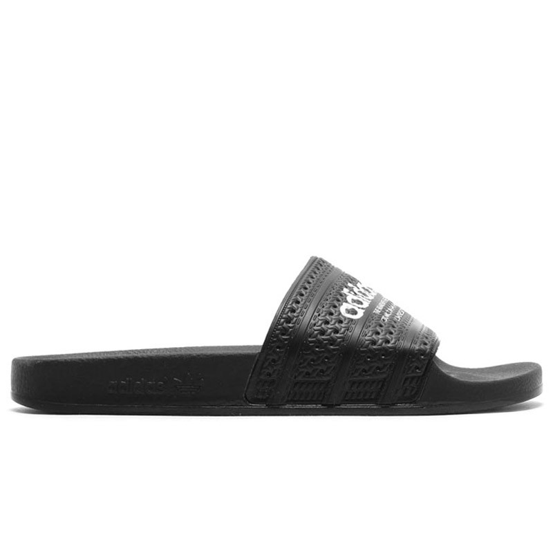 adidas Originals ADILETTE (아디다스오리지나르스아디렛타) Core Black/Core Black/Running White 16 SS-I