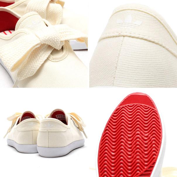 "adidas Originals for atmos RELACE LOW W ""STRIPE"" CREAM WHITE/CREAM WHITE/RUNNING WHITE"