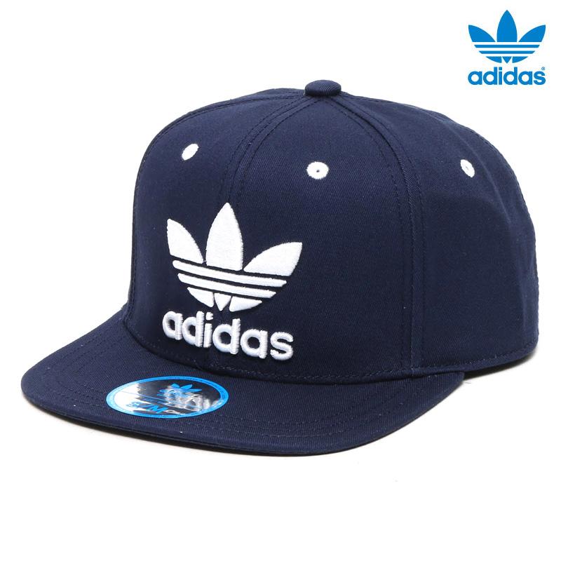 Adidas Originals AC CAP TREFOIL FLAT (아디다스 オリジナルス 클로버 플랫 캡) College Navy/White 16SS-I