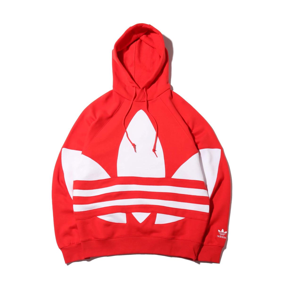 adidas BIG TREFOIL HOODIE(アディダス ビッグ トレフォイル フーディー)LUSH RED【メンズ パーカー】20SS-I