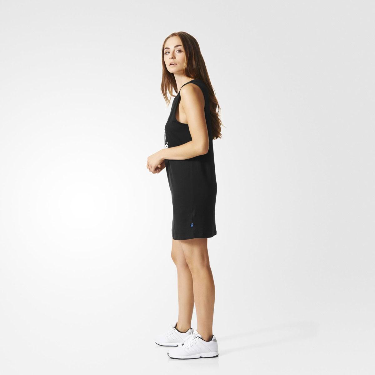Adidas Originals TRF TANK DRESS (아디다스 オリジナルス 클로버 탱크 드레스) BLACK 16SS-I