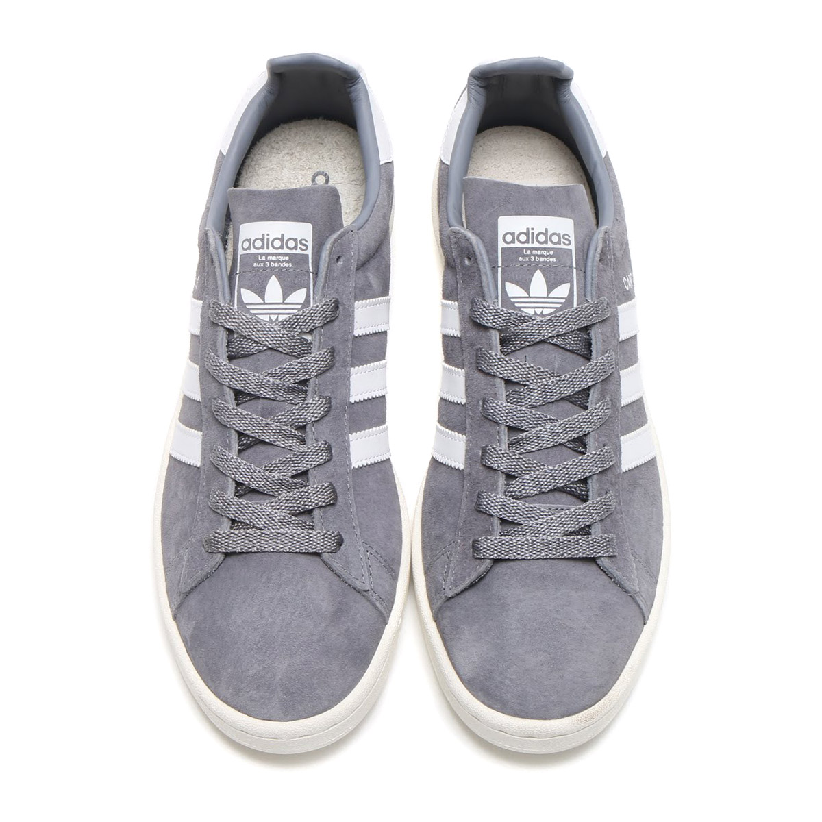 eaea038b3f00 adidas Originals CAMPUS (Adidas original scan pass) (Grey Running  White Chalk White)