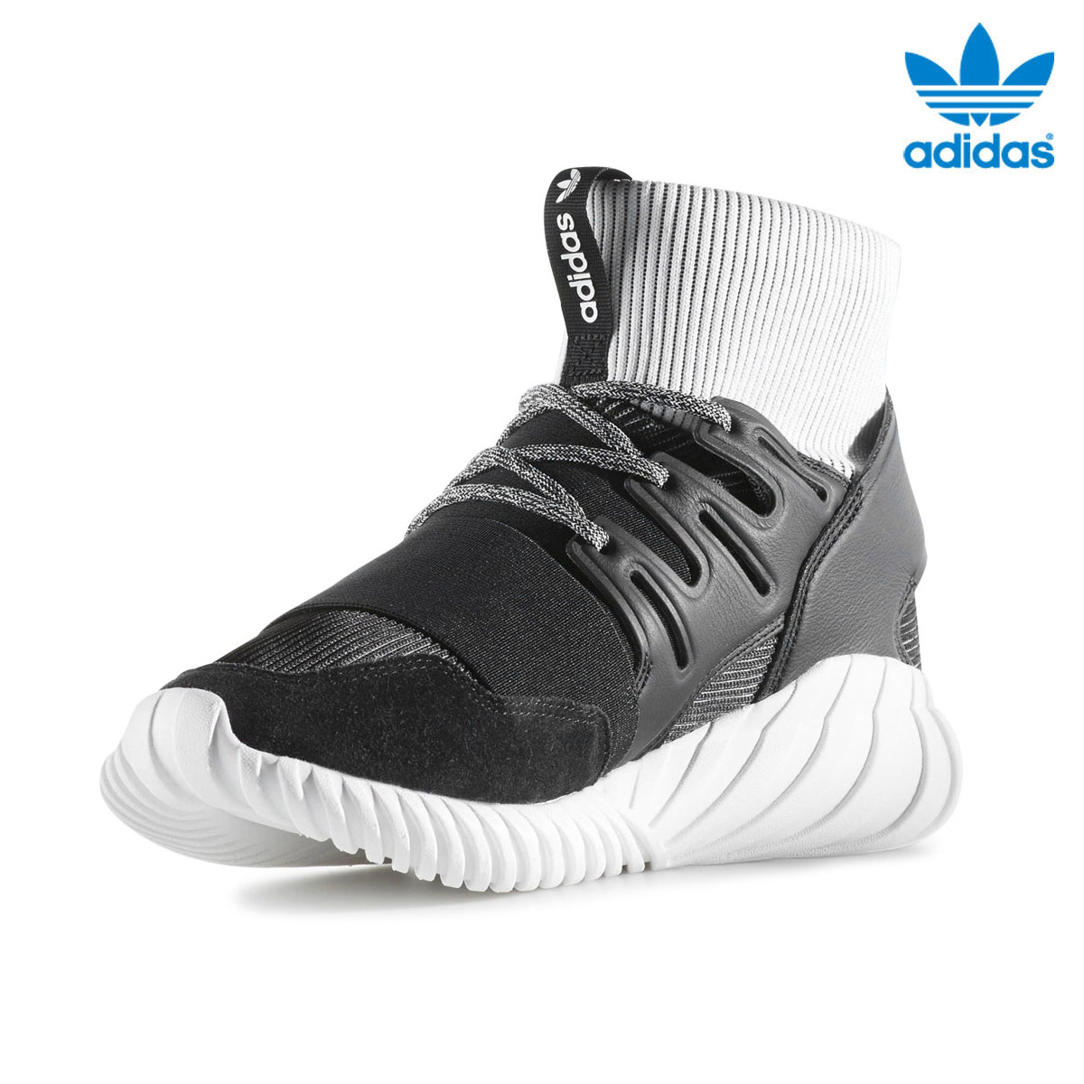 adidas Originals TUBULAR DOOM(アディダス チューブラー ドーム)(Core Black/Core Black/Running White)【メンズ】17SS-I